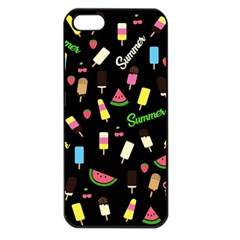 Summer Pattern Apple Iphone 5 Seamless Case (black) by Valentinaart