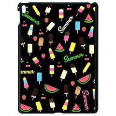 Summer pattern Apple iPad Pro 9.7   Black Seamless Case by Valentinaart