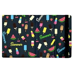 Summer Pattern Apple Ipad Pro 12 9   Flip Case by Valentinaart