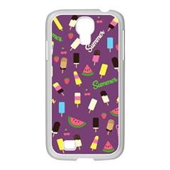 Summer Pattern Samsung Galaxy S4 I9500/ I9505 Case (white) by Valentinaart
