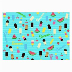 Summer Pattern Large Glasses Cloth (2 Side) by Valentinaart