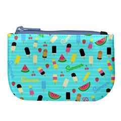 Summer Pattern Large Coin Purse by Valentinaart