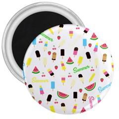 Summer Pattern 3  Magnets by Valentinaart