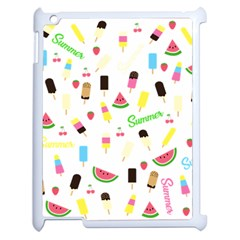Summer Pattern Apple Ipad 2 Case (white) by Valentinaart