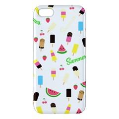 Summer Pattern Apple Iphone 5 Premium Hardshell Case by Valentinaart