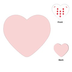 Blush Pink Playing Cards (heart)  by SimplyColor