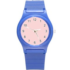 Blush Pink Round Plastic Sport Watch (s) by SimplyColor