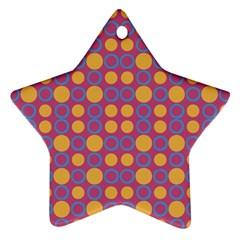 Colorful Geometric Polka Print Ornament (star) by dflcprints