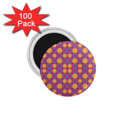 Colorful Geometric Polka Print 1 75  Magnets (100 Pack)  by dflcprints
