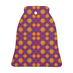 Colorful Geometric Polka Print Bell Ornament (two Sides) by dflcprints