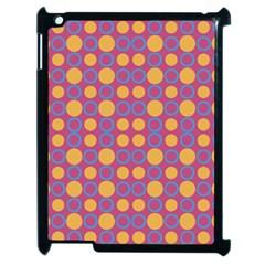 Colorful Geometric Polka Print Apple Ipad 2 Case (black) by dflcprints