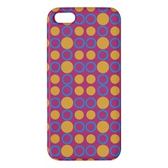Colorful Geometric Polka Print Apple Iphone 5 Premium Hardshell Case by dflcprints