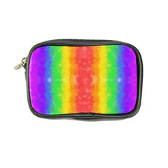 Striped Painted Rainbow Coin Purse by Brini