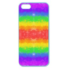 Striped Painted Rainbow Apple Seamless Iphone 5 Case (color) by Brini