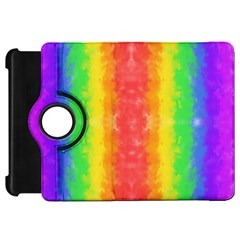 Striped Painted Rainbow Kindle Fire Hd 7  by Brini
