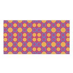 Colorful Geometric Polka Print Satin Shawl by dflcprintsclothing