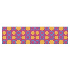 Colorful Geometric Polka Print Satin Scarf (oblong) by dflcprintsclothing