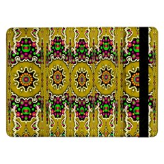 Rainbow And Stars Coming Down In Calm  Peace Samsung Galaxy Tab Pro 12 2  Flip Case by pepitasart