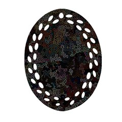 Chaos B1 Oval Filigree Ornament (two Sides) by MoreColorsinLife