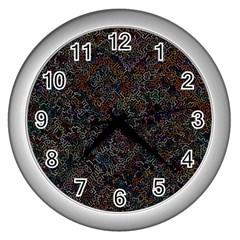 Chaos B3 Wall Clocks (silver)  by MoreColorsinLife