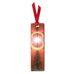 Liquid Sunset, A Beautiful Fractal Burst Of Fiery Colors Small Book Marks by beautifulfractals