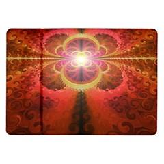 Liquid Sunset, A Beautiful Fractal Burst Of Fiery Colors Samsung Galaxy Tab 10 1  P7500 Flip Case by jayaprime