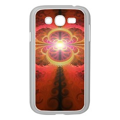 Liquid Sunset, A Beautiful Fractal Burst Of Fiery Colors Samsung Galaxy Grand Duos I9082 Case (white) by beautifulfractals