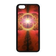 Liquid Sunset, A Beautiful Fractal Burst Of Fiery Colors Apple Iphone 5c Seamless Case (black) by jayaprime
