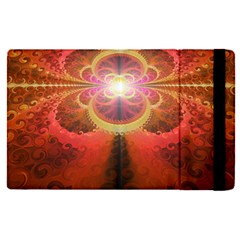 Liquid Sunset, A Beautiful Fractal Burst Of Fiery Colors Apple Ipad Pro 12 9   Flip Case by beautifulfractals