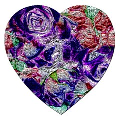 Floral Chrome 01a Jigsaw Puzzle (heart) by MoreColorsinLife