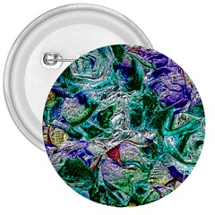Floral Chrome 01b 3  Buttons by MoreColorsinLife