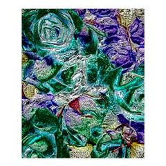 Floral Chrome 01b Shower Curtain 60  X 72  (medium)  by MoreColorsinLife