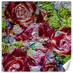 Floral Chrome 01c Canvas 16  X 16   by MoreColorsinLife