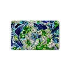 Floral Chrome 2a Magnet (name Card) by MoreColorsinLife