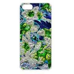 Floral Chrome 2a Apple Iphone 5 Seamless Case (white) by MoreColorsinLife