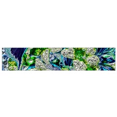 Floral Chrome 2a Flano Scarf (small) by MoreColorsinLife