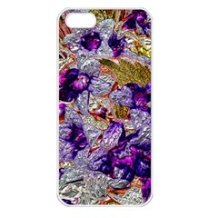 Floral Chrome 2b Apple Iphone 5 Seamless Case (white) by MoreColorsinLife