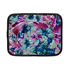 Floral Chrome 2c Netbook Case (small)  by MoreColorsinLife