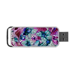 Floral Chrome 2c Portable Usb Flash (one Side) by MoreColorsinLife