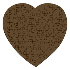 Brown Hide Solid Color  Jigsaw Puzzle (heart) by SimplyColor