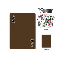 Brown Hide Solid Color  Playing Cards 54 (mini)  by SimplyColor