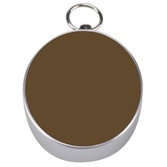 Brown Hide Solid Color  Silver Compasses by SimplyColor