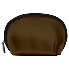 Brown Hide Solid Color  Accessory Pouches (large)  by SimplyColor
