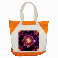 A Gold And Royal Purple Fractal Map Of The Stars Accent Tote Bag by jayaprime