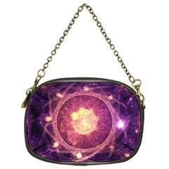A Gold And Royal Purple Fractal Map Of The Stars Chain Purses (one Side)  by jayaprime