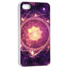 A Gold And Royal Purple Fractal Map Of The Stars Apple Iphone 4/4s Seamless Case (white) by beautifulfractals