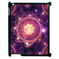 A Gold And Royal Purple Fractal Map Of The Stars Apple Ipad 2 Case (black) by beautifulfractals