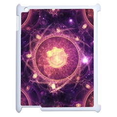A Gold And Royal Purple Fractal Map Of The Stars Apple Ipad 2 Case (white) by beautifulfractals