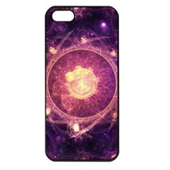 A Gold And Royal Purple Fractal Map Of The Stars Apple Iphone 5 Seamless Case (black) by beautifulfractals