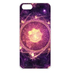 A Gold And Royal Purple Fractal Map Of The Stars Apple Iphone 5 Seamless Case (white) by jayaprime